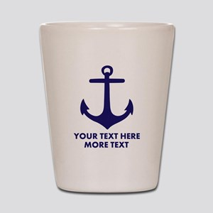 Nautical boat anchor Shot Glass
