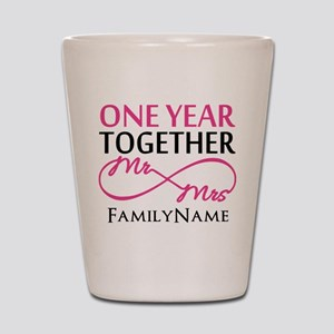 1st anniversary Shot Glass