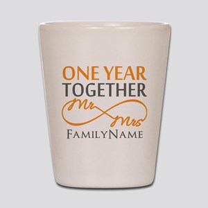 Gift For 1st Wedding Anniversary Shot Glass