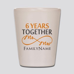 6th anniversary Shot Glass