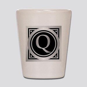 Deco Monogram Q Shot Glass