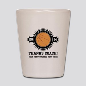 Thank you basketball coach Shot Glass