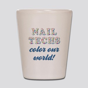 NAIL TECHS Shot Glass