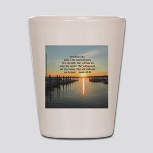 ISAIAH 40:31 Shot Glass