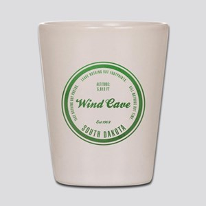 Wind Cave National Park, South Dakota Shot Glass