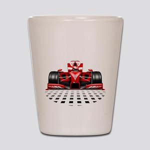Formula 1 Red Race Car Shot Glass