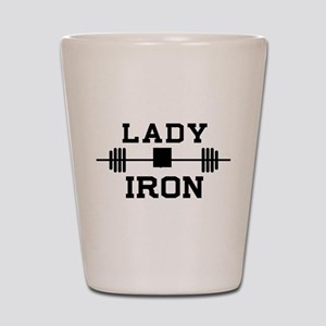 Lady of iron Shot Glass