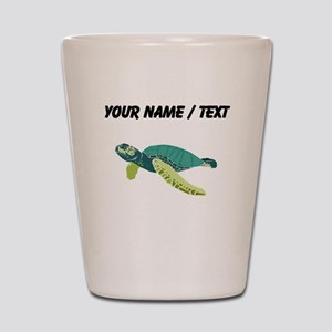 Custom Green Sea Turtle Shot Glass