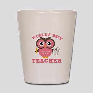 World's Best Teacher (Pink) Shot Glass