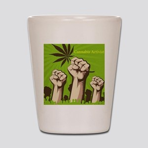 Cannabis Activist Shot Glass