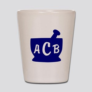 Blue Monogram Mortar and Pestle Shot Glass