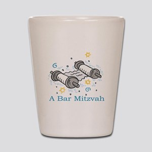 Bar Mitzvah with scroll Shot Glass