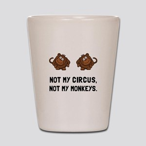 Circus Monkeys Shot Glass
