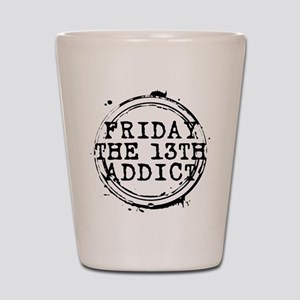 Friday the 13th Addict Stamp Shot Glass