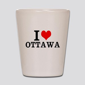 I Love Ottawa Shot Glass