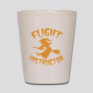 Halloween witch FLIGHT INSTRUCTOR Shot Glass