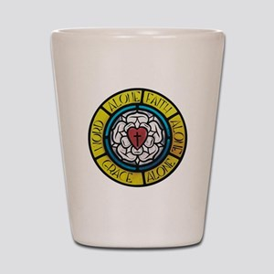 Luther's Rose- The Five Solas Shot Glass