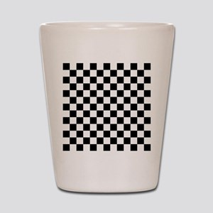 BLACK AND WHITE Checkered Pattern Shot Glass