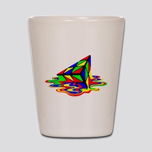 Pyraminx cude painting01B Shot Glass