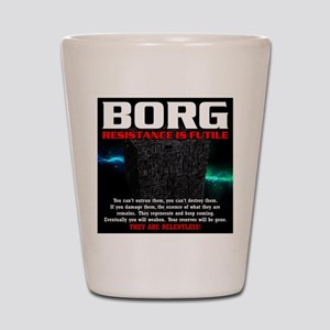 BORG RELENTLESS Shot Glass