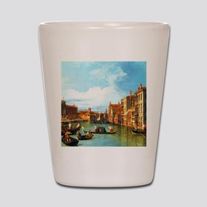 Grand Canal in Venice by Canaletto Shot Glass