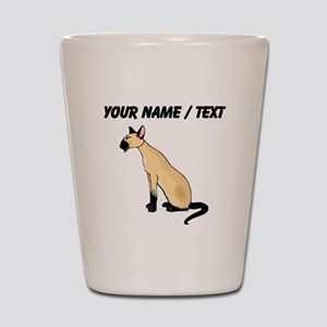 Custom Siamese Cat Shot Glass