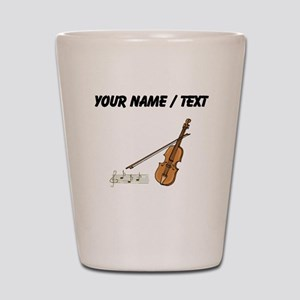 Custom Violin And Musical Notes Shot Glass