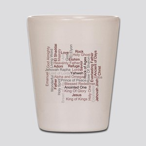 Names of God Word Art Shot Glass