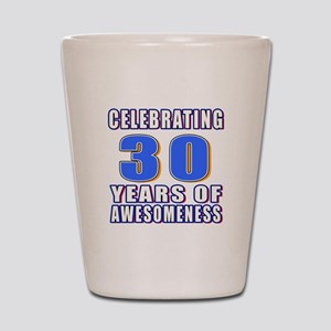 30 Years Of Awesomeness Shot Glass