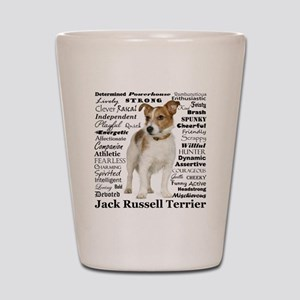 Jack Russell Traits Shot Glass