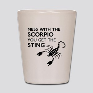 Scorpio Stings Shot Glass