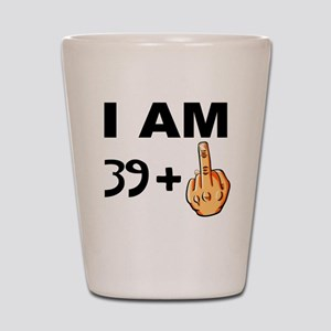 Middle Finger 40th Birthday Shot Glass