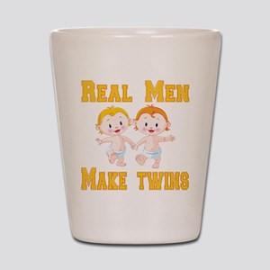 Real Men Make Twins Shot Glass