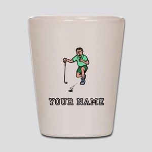 Cartoon Golfer (Add Name) Shot Glass