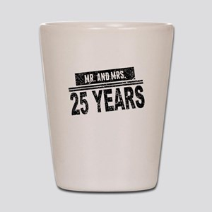 Mr. And Mrs. 25 Years Shot Glass