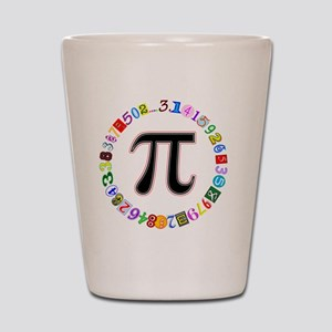 Colorful and Fun Circle of Pi Shot Glass