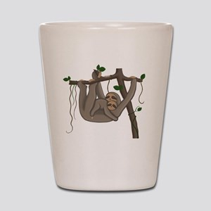 Cute Sloth Shot Glass