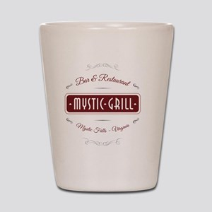 TVD - Mystic Grill red Shot Glass