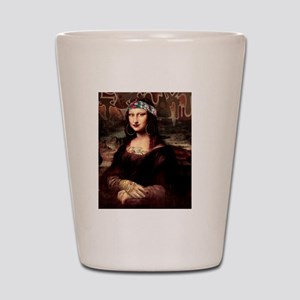 La Chola Mona Lisa Shot Glass