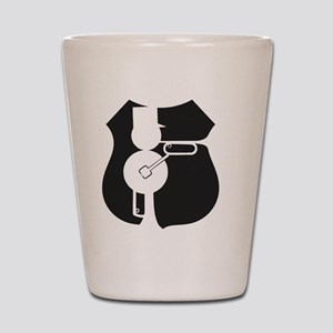UP Railmen Alumni Logo Black on White Shot Glass