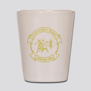 3rd Battalion 1st Marines Front Shot Glass