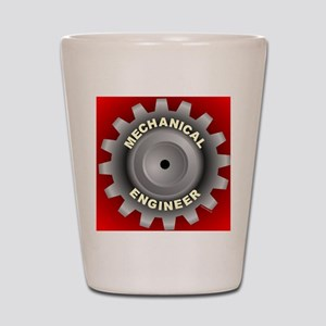 Mechanical Engineer Gear Red Shot Glass