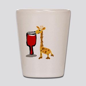 Giraffe Drinking Wine Shot Glass