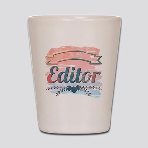 Editor Shot Glass