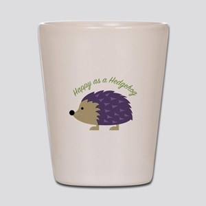 Happy As Hedgehog Shot Glass