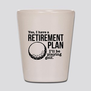 Golf Retirement Plan Shot Glass