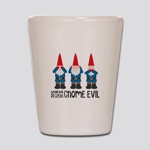 Gnomes No Evil Shot Glass