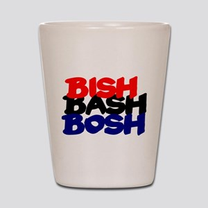 BISH BASH BOSH - RED BLACK BLUE Shot Glass