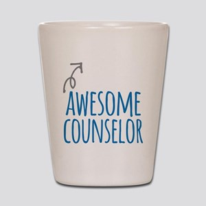 Awesome counselor Shot Glass