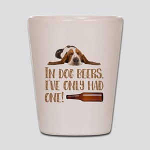 Man's best friend, and beer! Shot Glass